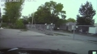 Naked pickup driver rams cop, chase ensues