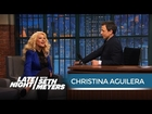 Christina Aguilera Revisits Her Uncanny Sex and the City Impression - Late Night with Seth Meyers
