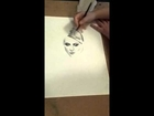 Heather Peace portrait speed drawing