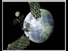 Electric power transmitted wirelessly.......using microwaves,.....space-based solar power