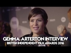 Gemma Arterton Interview, British Independent Film Awards (2016) BIFAs